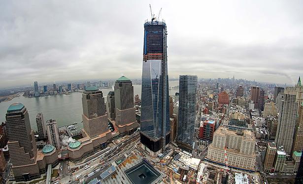 World trade center built on the ground zero site of the fallen world